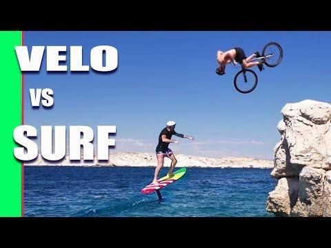 JE DÉFIE UN SURFER  ! (Surf Foil vs Vélo)