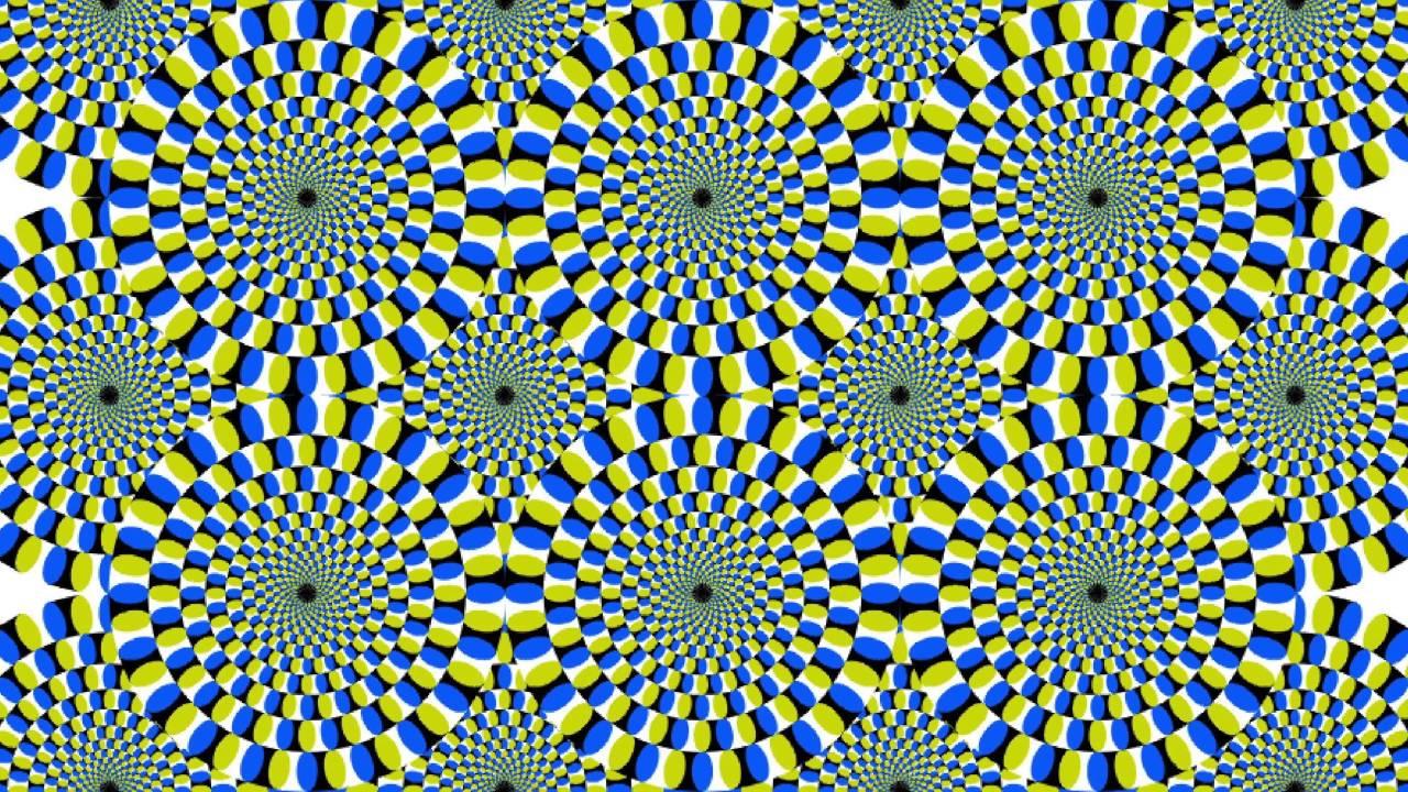 optical illusion moving dots yellow