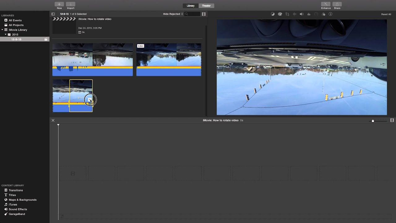Imovie how to rotate video youtube imovie how to rotate video ccuart Images