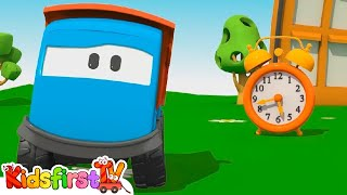 Kids 3d Construction Cartoons For Children 15: Leo's Alarm Clock Assembly игрушка/การ์ตูนรถของเล่น