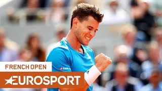 Dominic Thiem's Incredible Tweener! | Play of the Day | Roland Garros Round 4 | Eurosport
