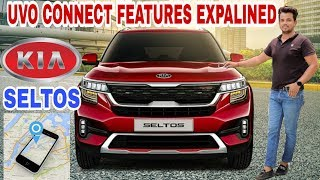 Kia Seltos Uvo Connect Features Explained  Live Car Tracking Remote Engine Start Stop Uvo Connect