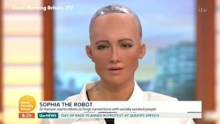 THE FUTURE OF MANKIND IS IN TROUBLE - SOPHIA THE CYBER HUMANOID Buy...