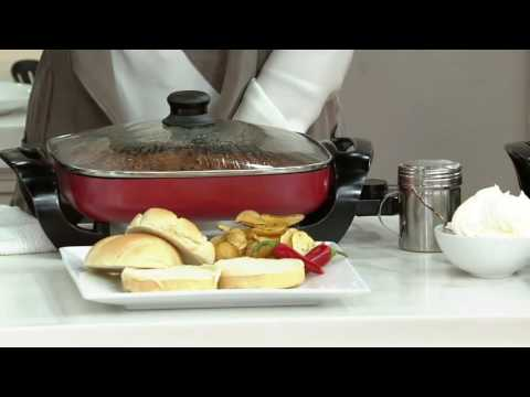 CooksEssentials 12x12 Nonstick Electric Skillet On QVC
