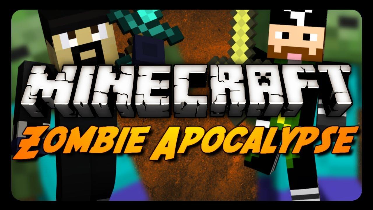 Minecraft Maps - ZOMBIE APOCALYPSE! - Pt. 1 w/ CavemanFilms (Adventure Map)