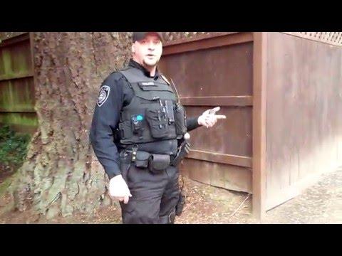 Officer Walker HARASSES Homeless Camp in Gresham