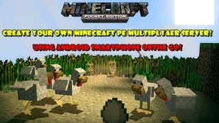 How to create Minecraft PE online multiplayer server using Android/iOS smartphone!