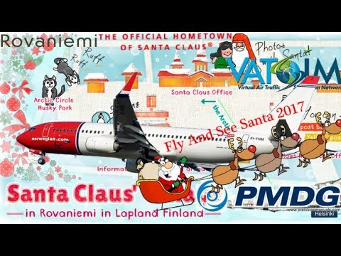 Vatsim's Fly & See Santa 2017 - Norwegian the Red-Nosed Boeing