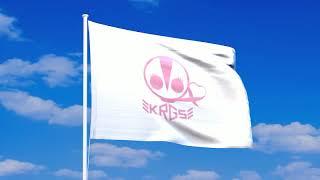 仮面ライダーGIRLSの旗が風になびく動画。 アニメーションGIF、透過PNG...