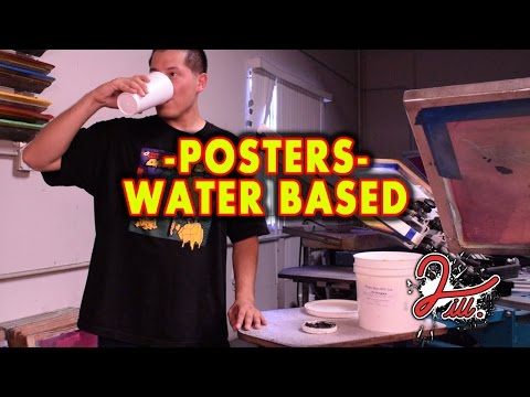2 iLL Screen Printing - Posters with Water Base Paint