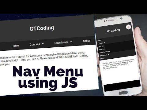 Responsive Navigation Menu Using HTML, CSS & JavaScript | Web Designing Tutorial