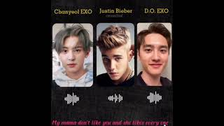 Justin Bieber, chanyeol exo, D.O exo COVER (love yourself) by Justin Bieber