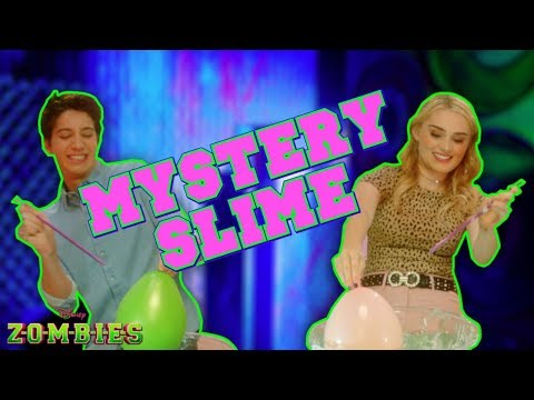 Mystery Slime Challenge  💚 | ZOMBIES | Disney Channel
