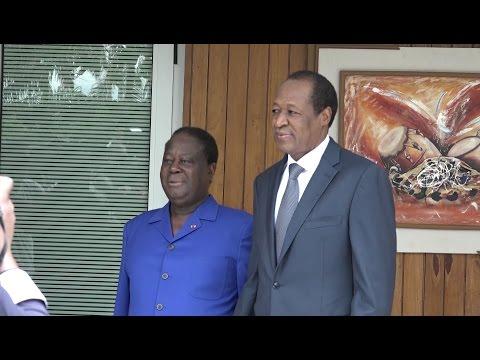 Abidjan: Rencontre privée Henri Konan Bédié et Blaise Compaoré