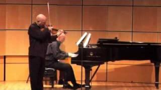 Prokofiev  Sonata Opus 80 - Elmar Oliveira - violin, Robert Koenig - piano, part 2 of 4