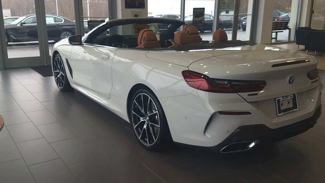 2019 Bmw M850 Convertible Alpine White With Cognac Extended Merino