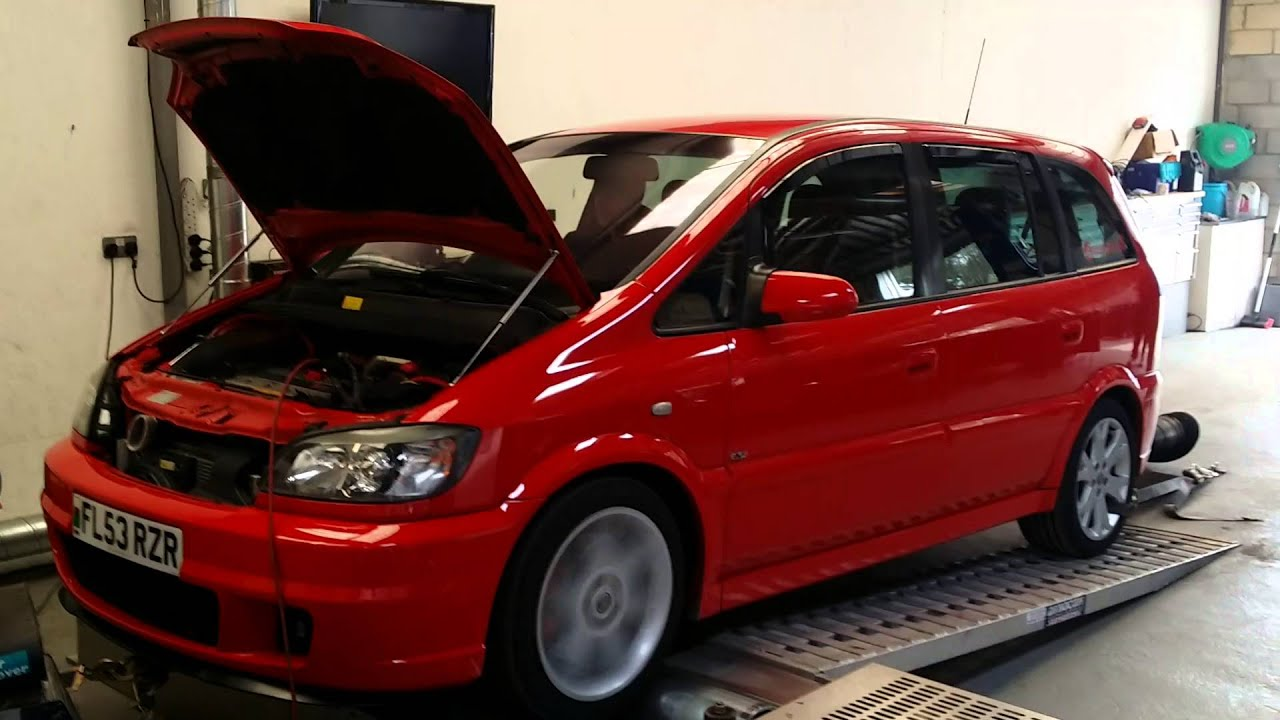 Flame Red Vauxhall Zafira Gsi On The Rolling Road At Avon Tuning