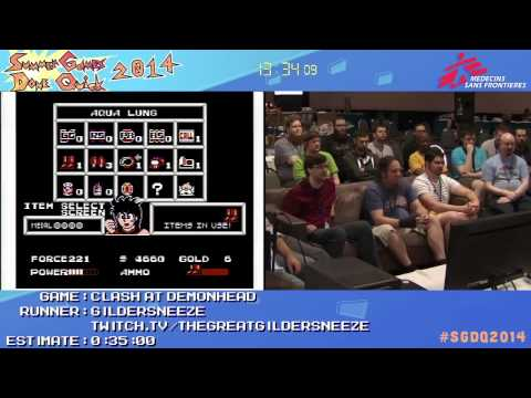 Clash At Demonhead by Gildersneeze in 22:07 - SGDQ2014 - Part 53