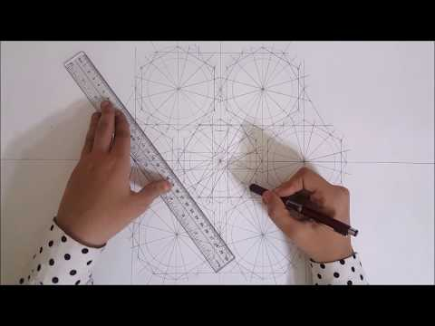 Draw with me #1 - Islamic geometric pattern #14 | زخارف اسلامية هندسية