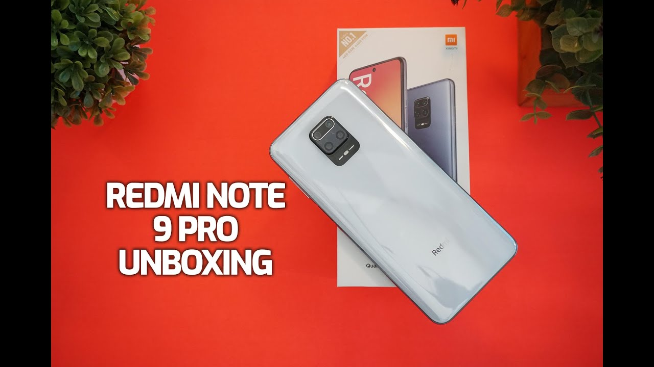 Redmi Note 9 Pro Glacier White Unboxing and Hands on