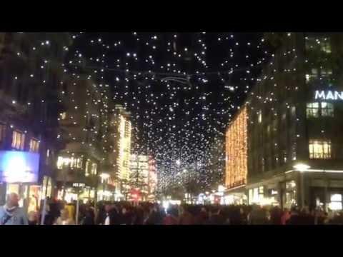 Weihnachtsbeleuchtung Bahnhofstrasse Zürich, 19.11.2015