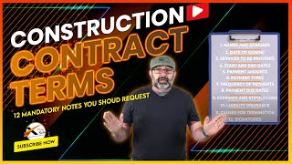 Construction Contract Terms Explained - 12 Must Have Terms In Your  Contract