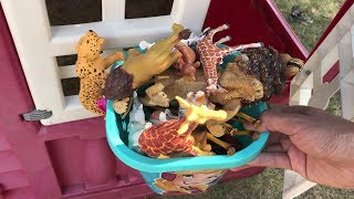 Zoo animals for kids Learn zoo animal name Learn colors Animal toys for kids