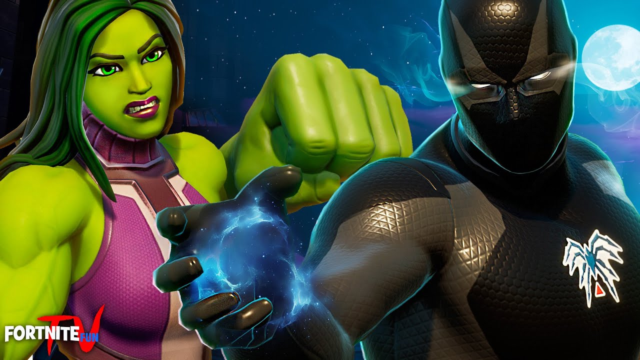 SHE-HULK vs BLACK SPIDER-MAN (Fortnite Short Film)