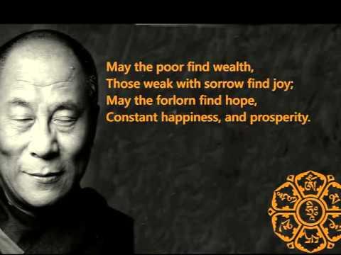 Om Mani Padme Hung and one of H.H. Dalai Lama's favorite prayer