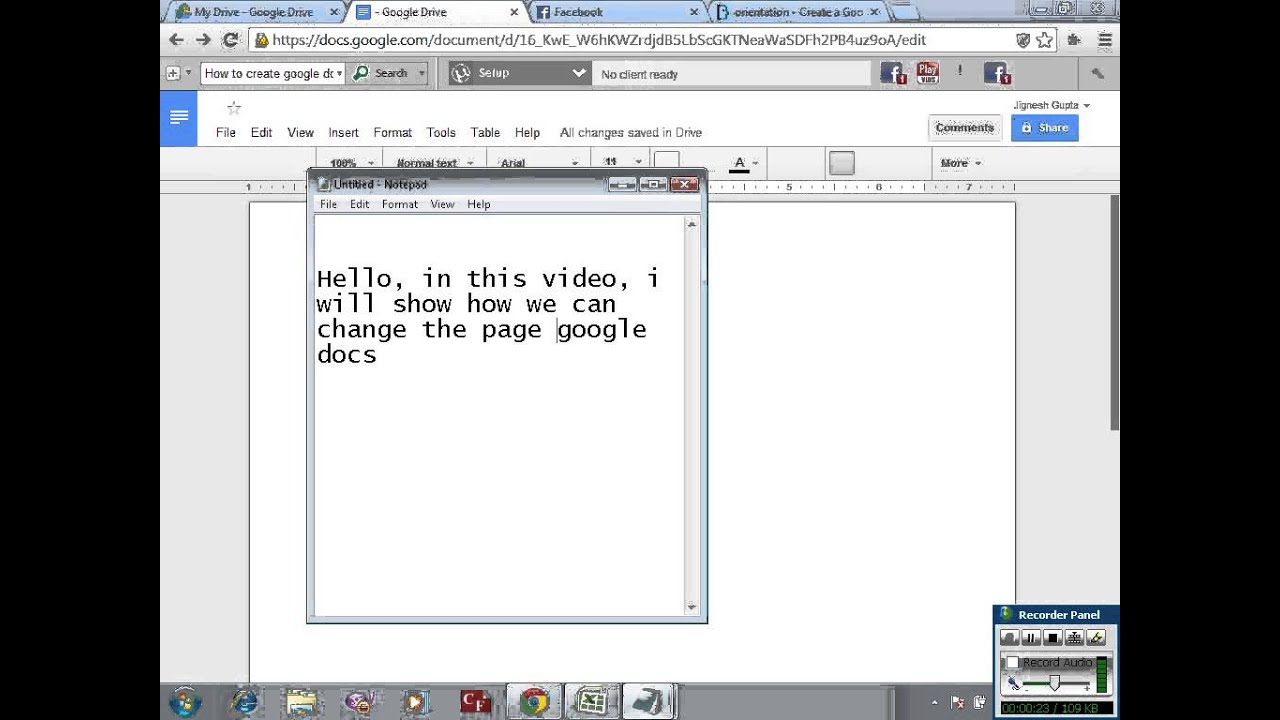 Create Google Docs In Landscape Mode