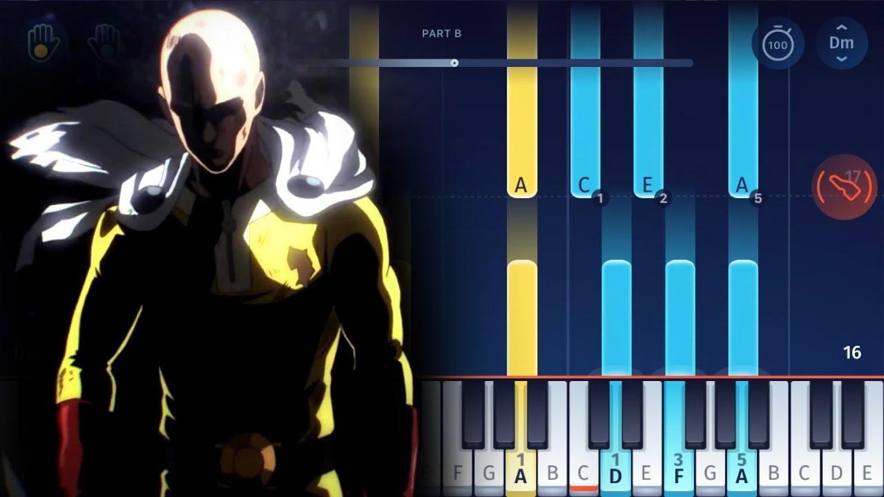 One Punch Man - Saitama's Theme (Ballad Ver.) - EASY Piano ...