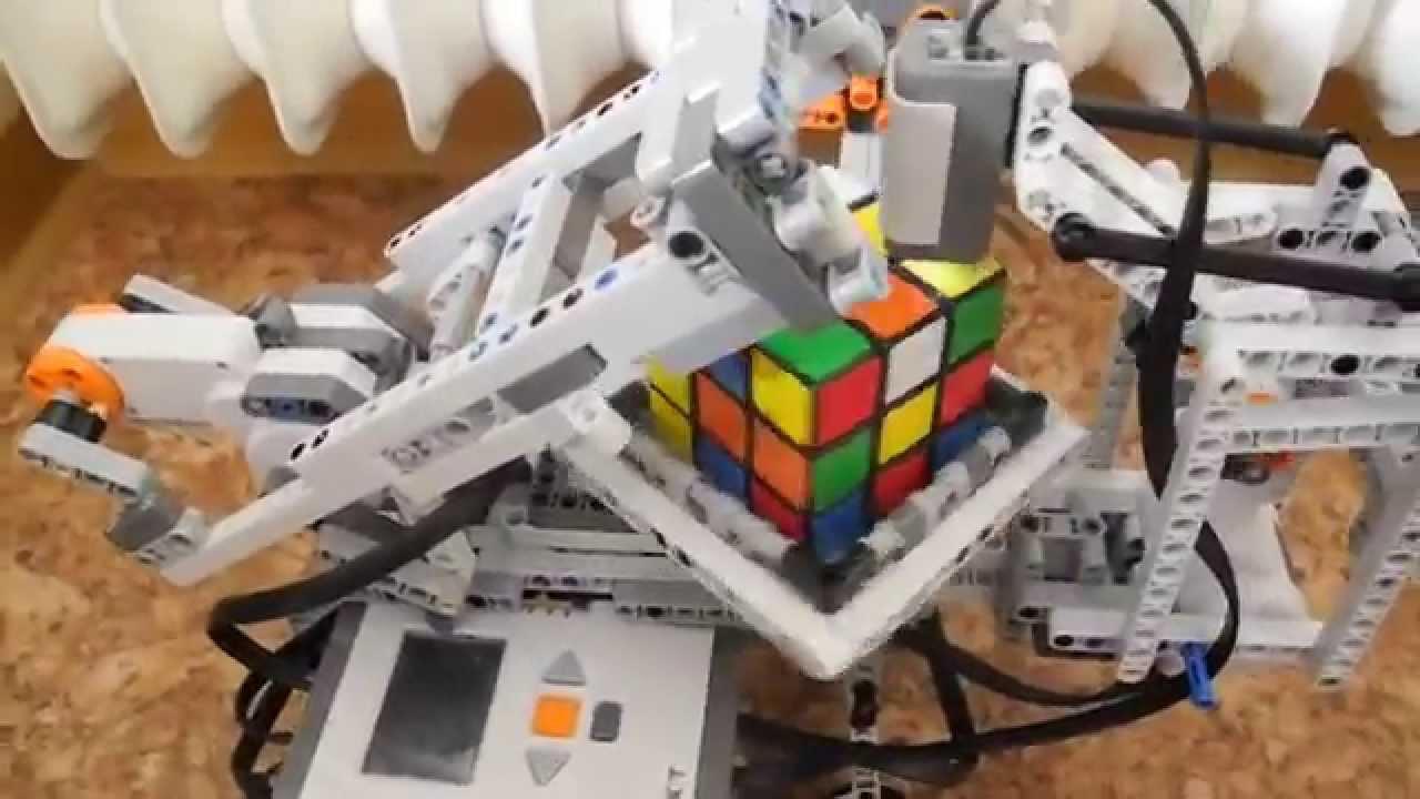 Lego Nxt 20 Rubiks Cube Solverbuild Instruction Hd Youtube