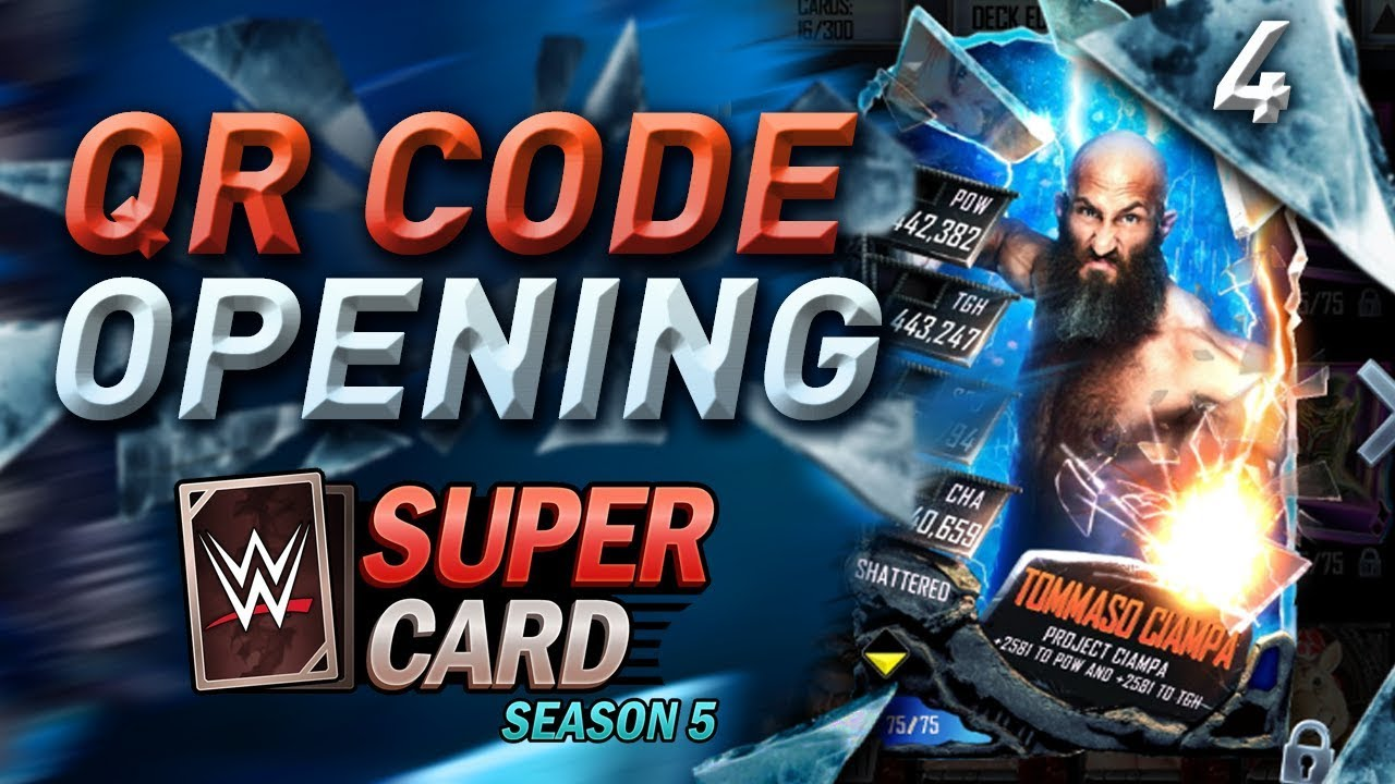 Shattered Cards Qr Code Pack Opening Wwesupercard Season 5 4 Youtube