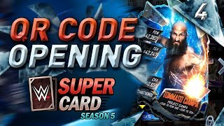 SHATTERED CARDS!! QR CODE PACK OPENING!! #WWESUPERCARD SEASON 5 #4