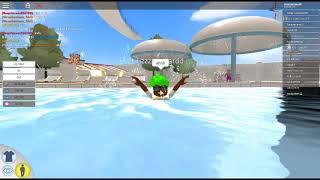 took mini lizard to robloxfornia waterpark