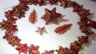 how to make a volumetric Christmas tree from A4 paper easily. New Year crafts