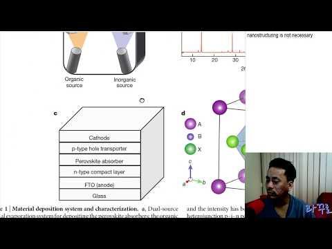 [과꾸로] 2017.06.02 한 밤의 저널클럽:  Perovskite solar cells