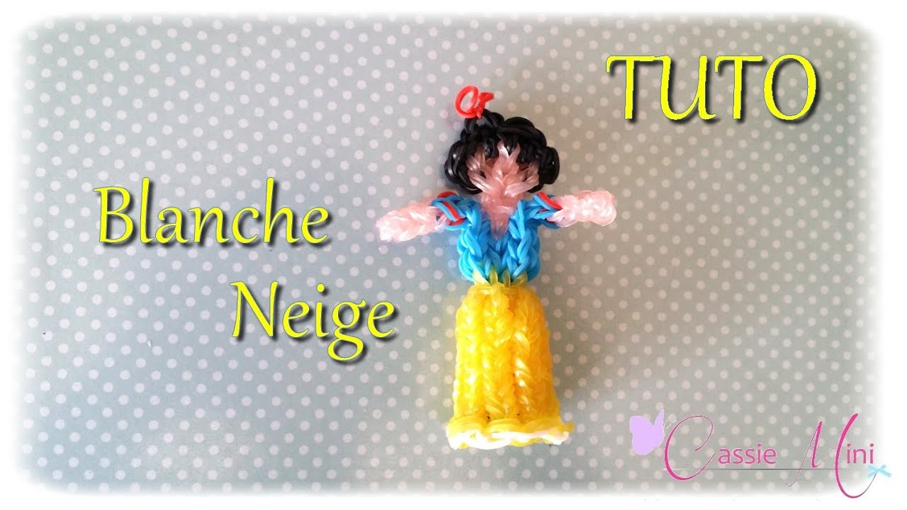tuto blanche neige en lastique rainbow loom youtube. Black Bedroom Furniture Sets. Home Design Ideas