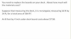 Estimating the cost of a deck