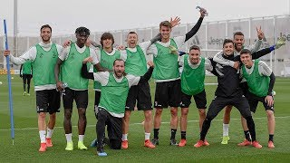 Juventus training ahead of Friday's Udinese fixture