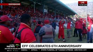 Malema arrives for EFF's 6th anniversary celebrations