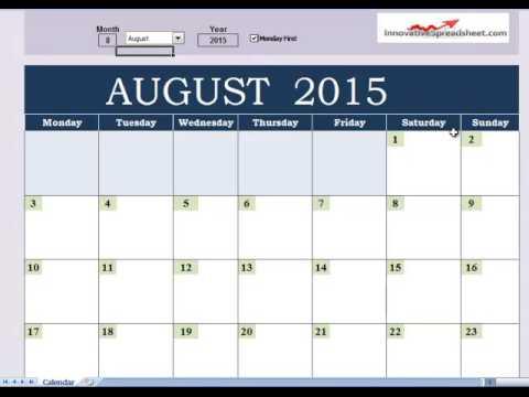Electronic Calendar Youtube