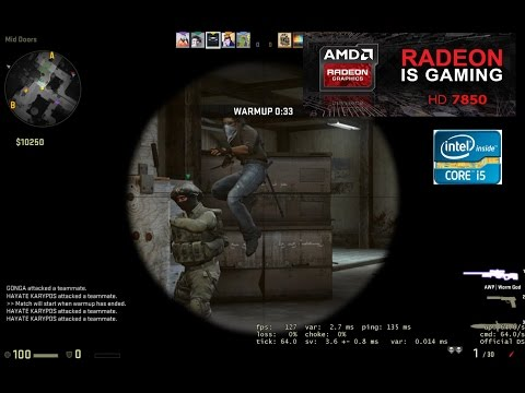 cs go on radeon hd 7850 + core i5 3570 (maxed out) with FPS pro funny daddy