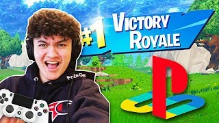 Winning a game of Fortnite on a PS4 Controller