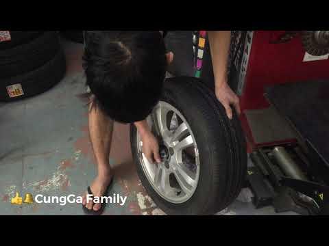 Quy trình thay lốp mới cho xe ô tô. Lốp bridgestone.