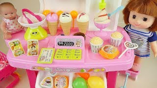 Baby doll ice Cream cart play baby Doli house