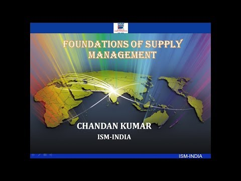 Foundations of Supply Management