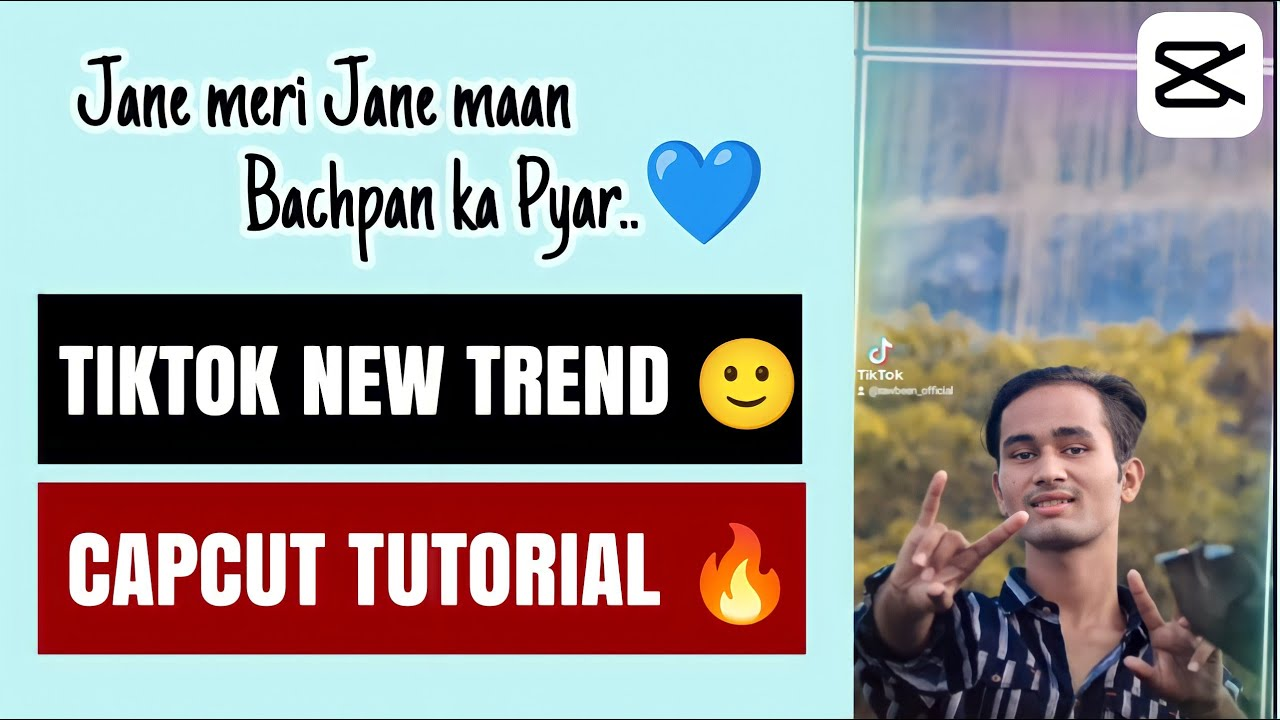 Capcut tutorial 🔥|| Jane meri Jane maan Bachpan ka Pyar ❤️|| Trending on Tiktok 🙂