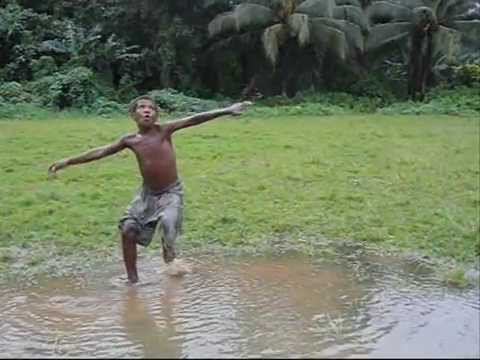 Bicycle Kick in The Rain [Little & Loud Soccer in Solomon Islands]
