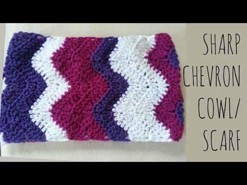Sharp Chevron | Crochet Pattern | Scarf Tutorial